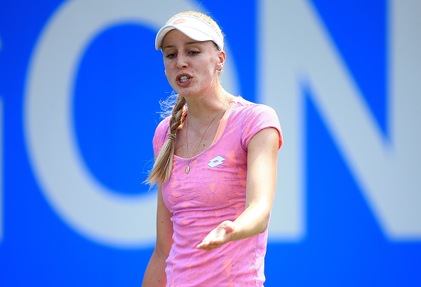 Broady was frustrated as she was unable to deal with Kvitova and she committed too many unforced errors (Photo by Ben Hoskins / Getty)