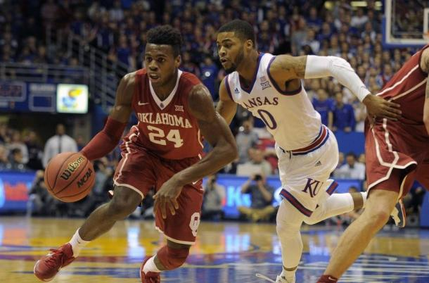 Buddy Hield (24) scored a career high 46 points in a January game at Kansas. Could he do something like it again in the Tournament? (John Rieger/USA TODAY Sports)