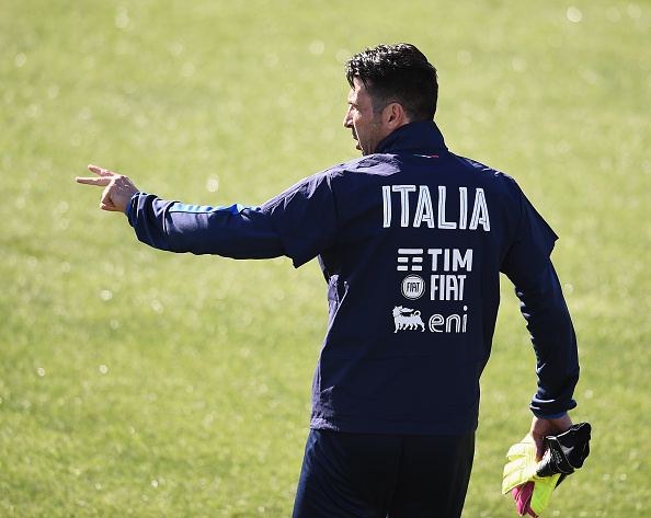 Buffon en uno de las últimas concentraciones de la selección. // Foto: Getty Images