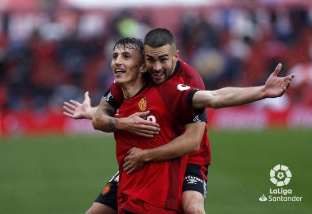 Ante Budimir celebra su gol ante el Valencia | Fuente: LaLiga Santander