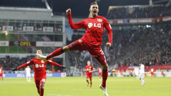 Bellarabi celebrates. | Source: Bundesliga