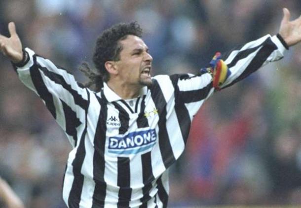 Roberto Baggio con la maglia della Juventus | Foto via www.goal.com
