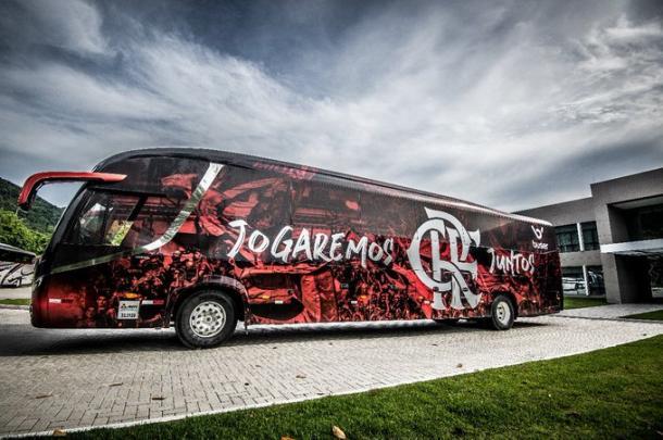 Ônibus do Flamengo (Foto: Alexandre Vidal / Flamengo)