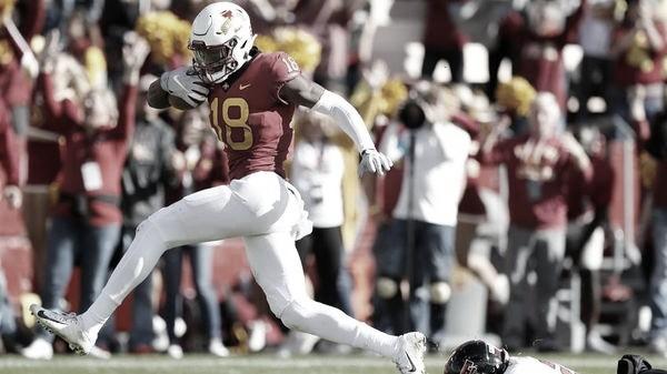 Hakeem Butler, un receptor explosivo y con mucho futuro en esta liga. Foto: NFL.