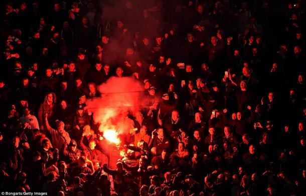 Dortmund fans' passion, noise and flares make for an intimidating atmosphere (photo: Getty Images)
