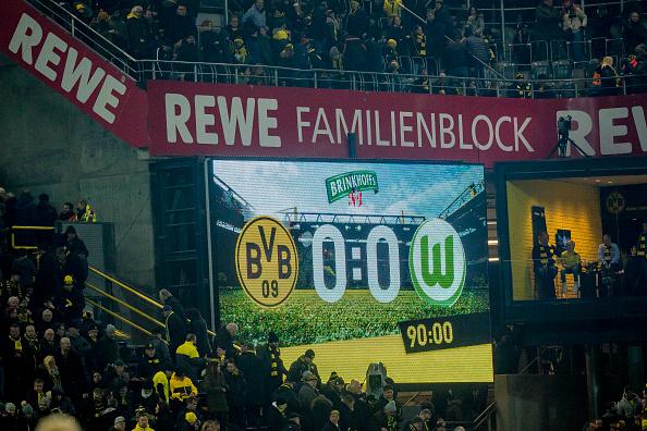 Placar final da partida (Alexandre Simoes/Borussia Dortmund/Getty Images)