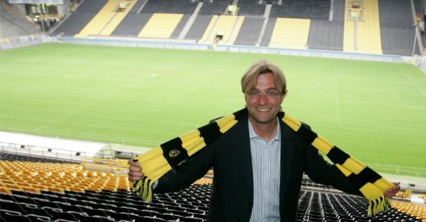 Klopp on the day he was unveiled as Dortmund's new manager. (Picture: www.teamtalk.com)
