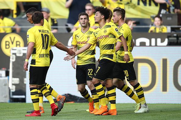 Comemoração do primeiro gol (Maja Hitij/Bongarts/Getty Images)