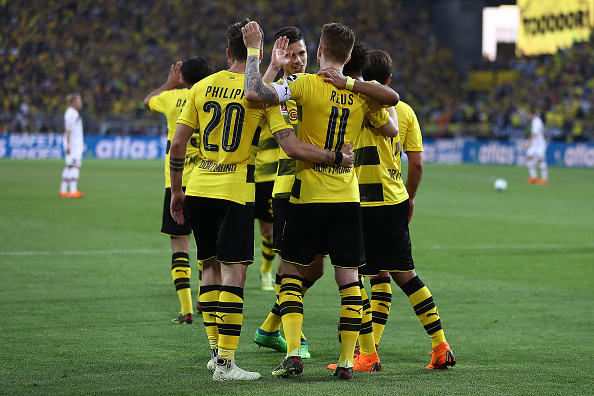 Comemoração do quarto gol (Lars Baron/Bongarts/Getty Images)