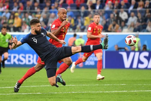 Giroud representa la garra del equipo galo. Fuente: FIFA.