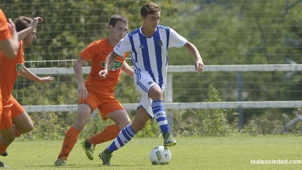 El C en un partido disputado en Zubieta. Foto: Real Sociedad