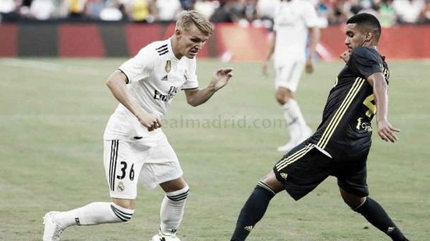 Ødegaard en la pretemporada con el Real Madrid en la 18/19 | Fuente: Real Madrid