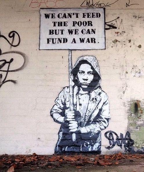 Mural contra la guerra. Fotografía de: pinterest.com