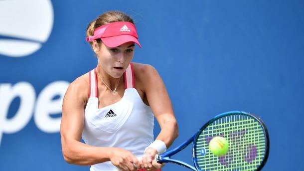 Although Kalinskaya performed well on her serve, she struggled on the return on serve   Photo: Pete Staples