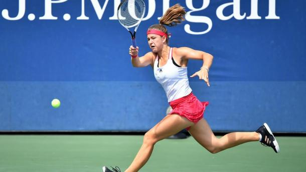 Karolina Muchova's forehand was firing on all cylinders during the match   Photo: Pete Staples