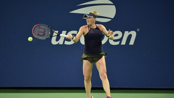  Brengle looked poised to putting up a stiff challenge in the first set after carving out a break lead. Photo: Andrew Ong 