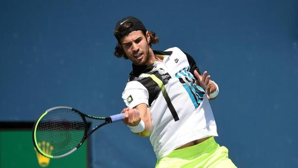 Karen Khachanov roared back into contention with two impressive sets | Photo: Mike Lawrence