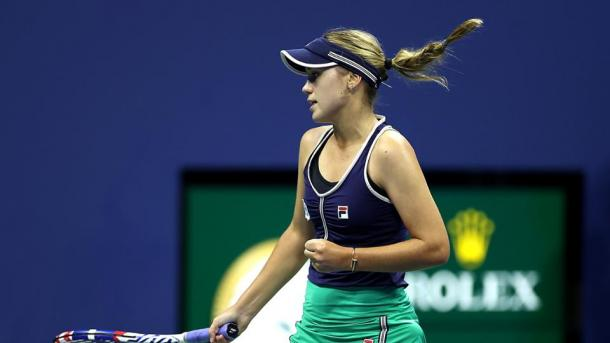 Sofia Kenin had a chance in the second set, but failed to capitalise | Photo: Simon Bruty