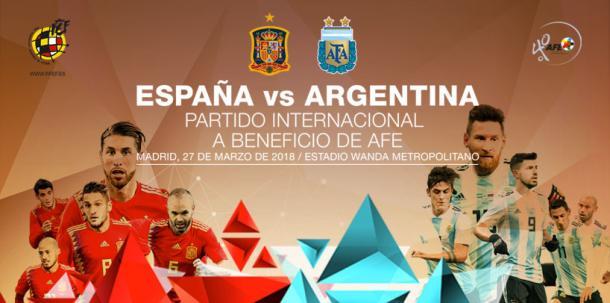 España se enfrentará a Argentina el 27 de marzo / Fuente: SeFutbol
