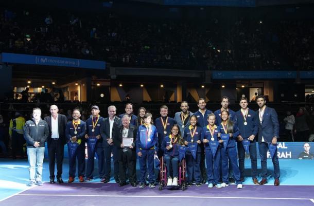 Lo mejor del tenis colombiano en 2019 en una sola imagen. Foto: Fedecoltenis.