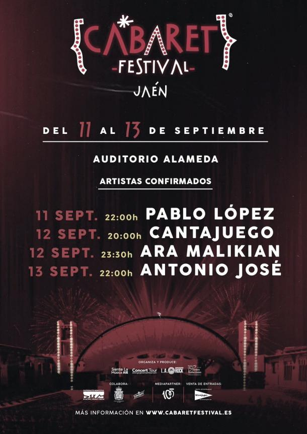 Cartel Cabaret festival Jaén // fuente: cabaret festival (instagram)