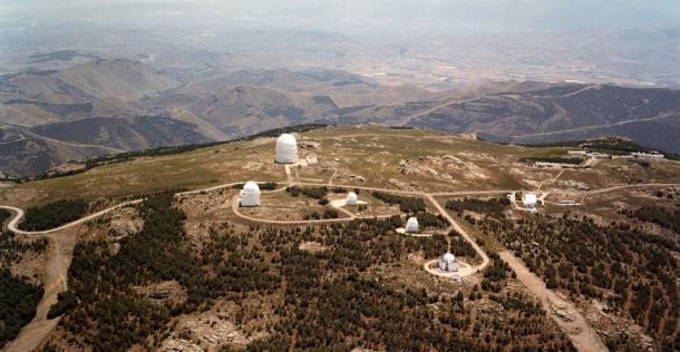 Vista aérea del Observatorio de Calar Alto (Almería) | Fuente: IAA-CSIC