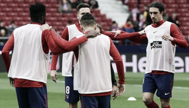 Calentamiento de los jugadores colchoneros | Atlético de Madrid