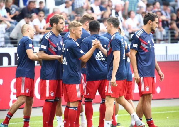 Calentamiento del Bayern de Múnich | Foto: @FCBayern_es