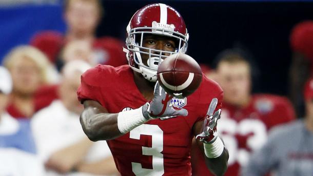 Calvin Ridley is the odds-on favorite to go first among receivers in the 2018 NFL Draft. | Getty Images.