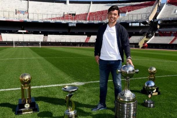 Gallardo lleva 14 títulos en River, sumando su etapa de jugador y de entrenador (Foto: CARP Oficial).