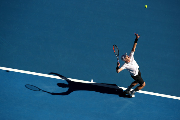 Murray serves to Marchenko (Photo by Cameron Spencer/Getty Images)