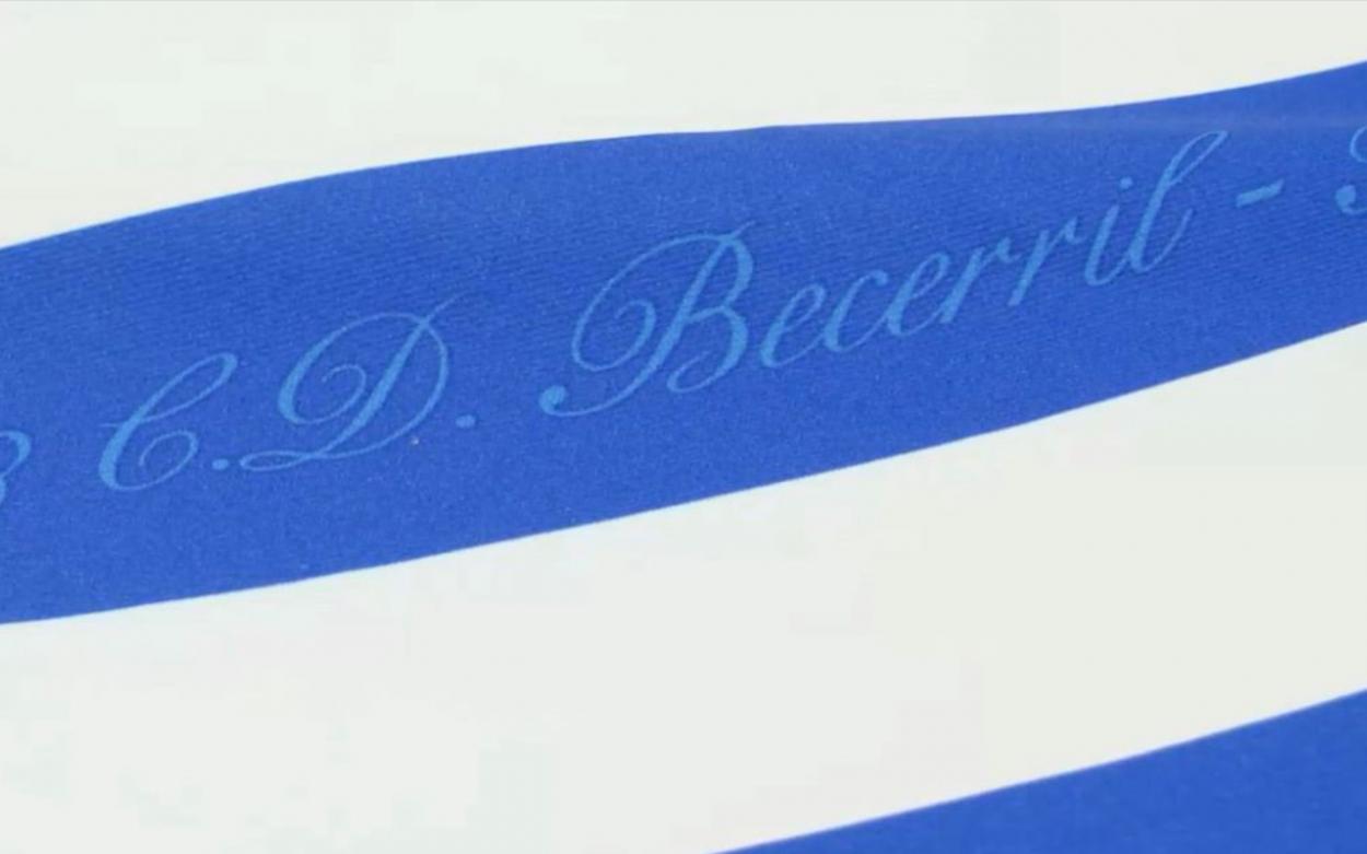 Detalle de las inscripciones en la camiseta // Foto: Real Sociedad