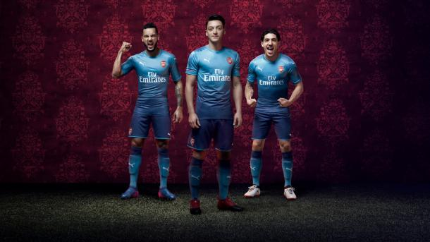 Segunda equipación del Arsenal | Fotografía: Arsenal