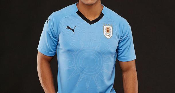 Camiseta titular de Uruguay. Foto: Puma.