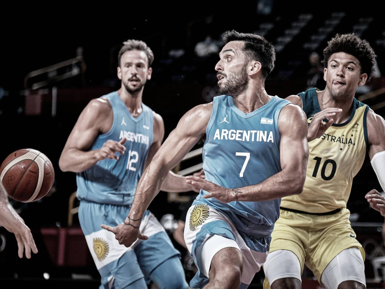 Campazzo intentó conducir a Argentina   Foto: FIBA