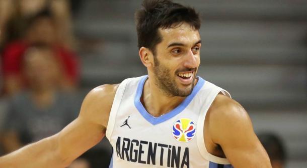 Campazzo, sonriente con la selección Argentina | Foto: mundod.lavoz.com.ar