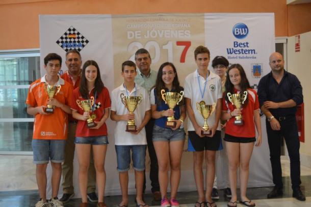 Puestos de honor de campeonato de España sub 16 | FEDA