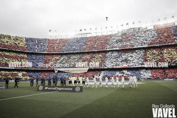 El Camp Nou antes de un clásico | Foto: Alex Gallardo (VAVEL)