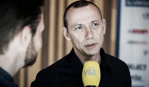 Canayer ante la prensa en la previa de la semifinal en Colonia   Foto: montpellierhandball.com