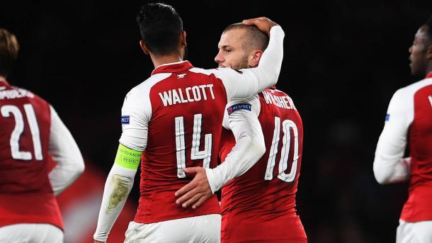 Walcott ejerciendo como capitán en el Arsenal | Fotografía: Arsenal