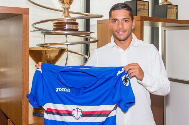 Caprari como nuevo jugador de la Sampdoria   Foto:Sampdoria