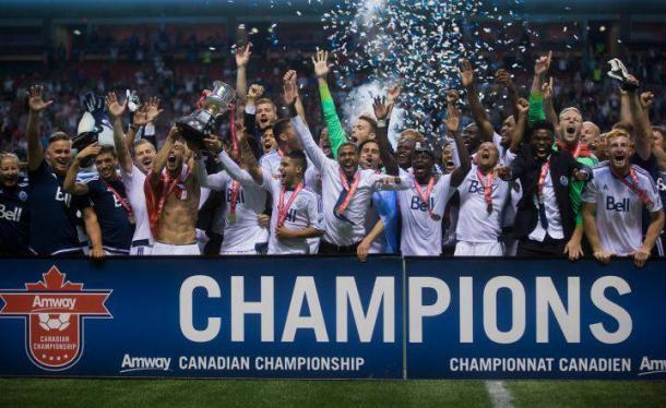 Vancouver levantando su última Canadian Championship // Imagen: embajadoresdelgol.com