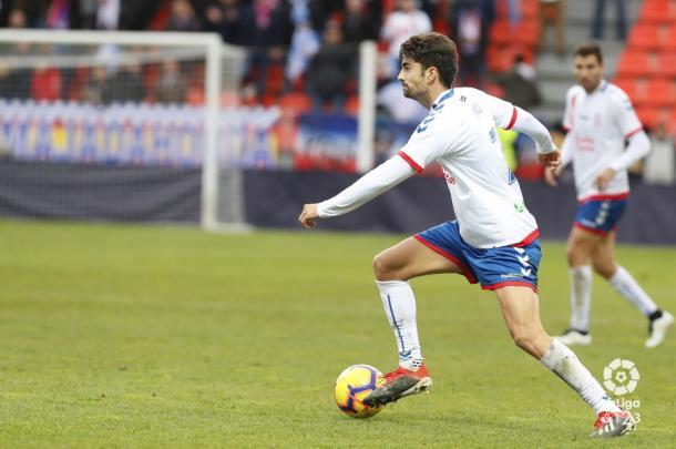 Enzo conduciendo el balón. Fotografía: La Liga