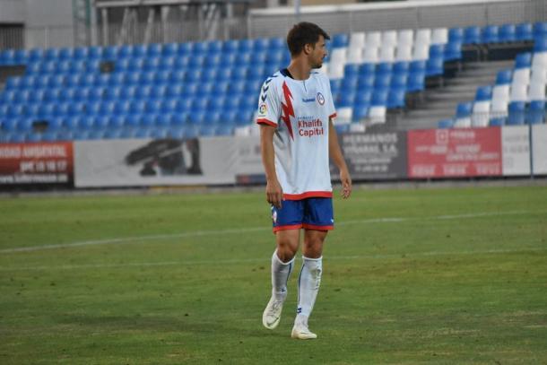 Galán durante un partido de pretemporada. Fotografía: Noelia Arroyo (Vavel)