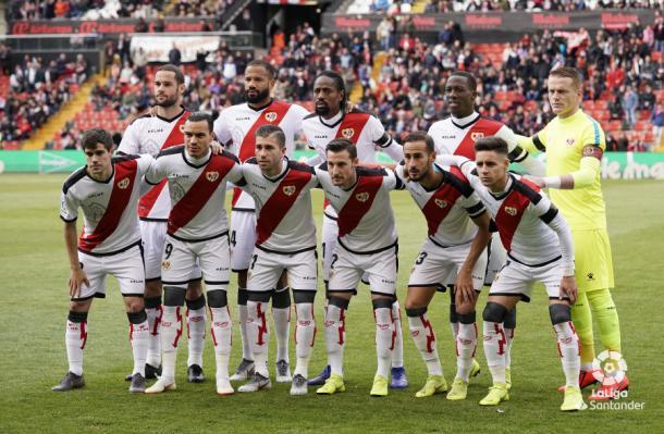 Los once jugadores del partido. Fotografía: La Liga