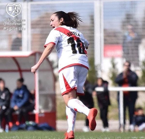 Estela celebrando un gol | Fotografía: Rayo Vallecano S.A.D.