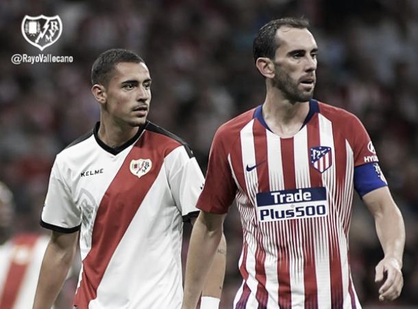 Sergio Moreno ante el Atlético de Madrid | Fotografía: Rayo Vallecano S.A.D.
