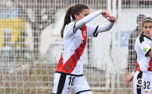 Sheila García celebrando su gol | Fotografía: La Liga