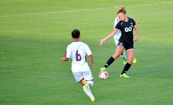 Inma Martínez durante un partido | Fotografía: Alabama State Soccer
