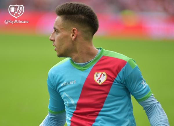 Álex Moreno celebrando su gol | Fotografía: Rayo Vallecano S.A.D.
